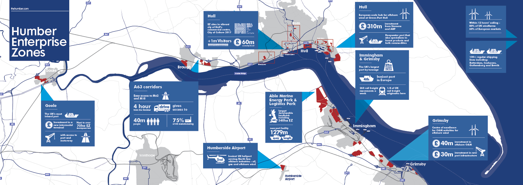 Humber Enterprise Zones Map