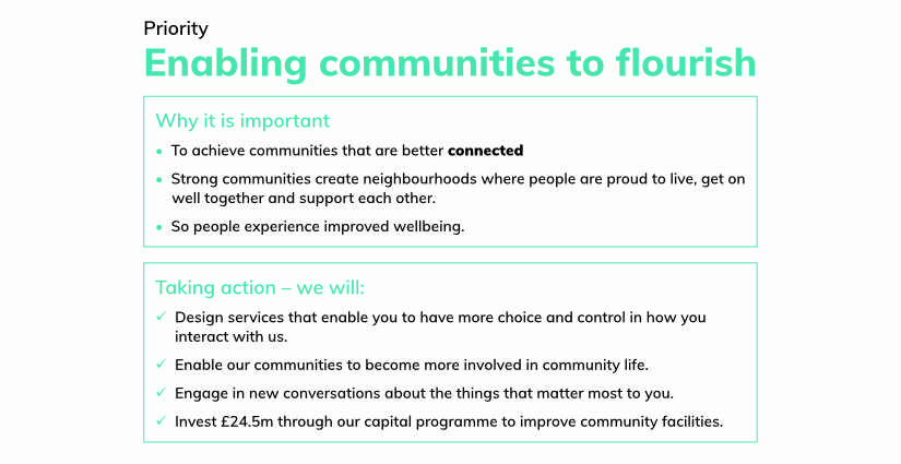 North Lincolnshire COuncil Priority - Enabling communities to florish